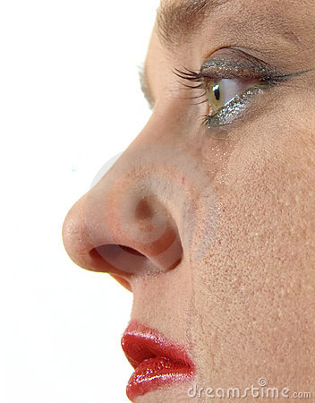 Woman Crying Lightly
