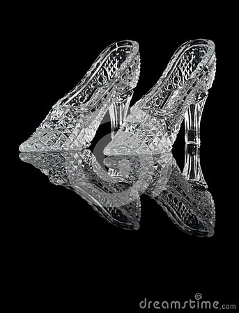Woman crystal shoes