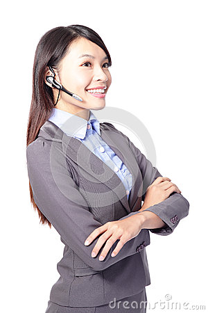 Woman customer support operator