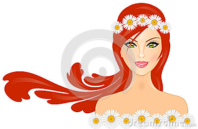 Woman with daisy crown
