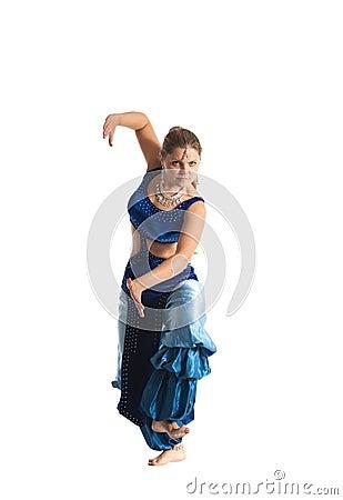 Woman dance in traditional arabia costume