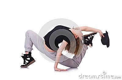 Woman dancer dancing