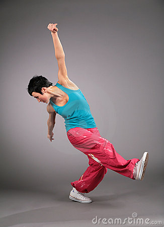 Woman dances sports dance