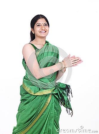 Woman dancing  happly