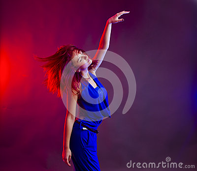 Woman dancing at party