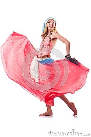 Woman dancing spanish dances