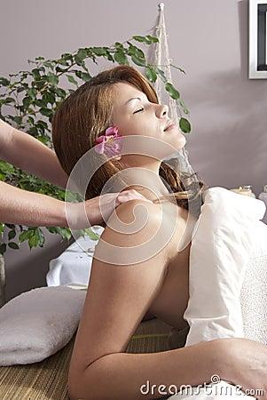 Woman at day spa