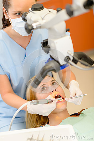 Woman dental surgery in clinic