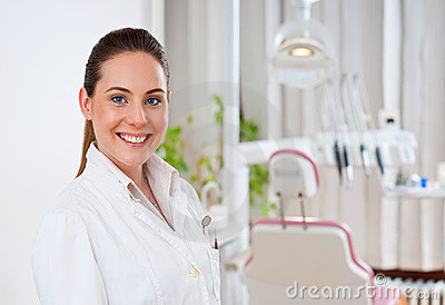 Woman dentist