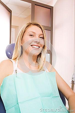 Woman at dentistry
