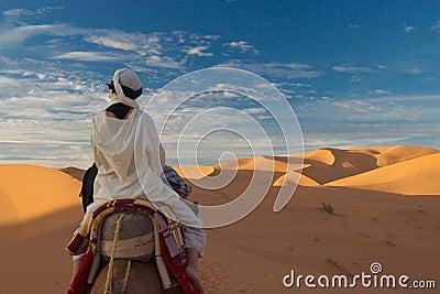 The woman in desert
