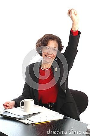 Woman at desk 705