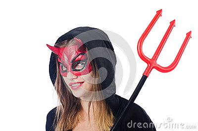 Woman devil with trident