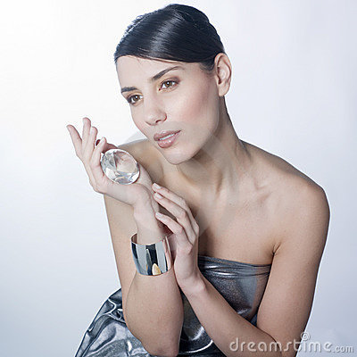 Woman and diamonds