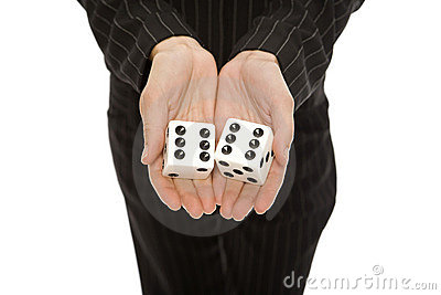 Woman with dice