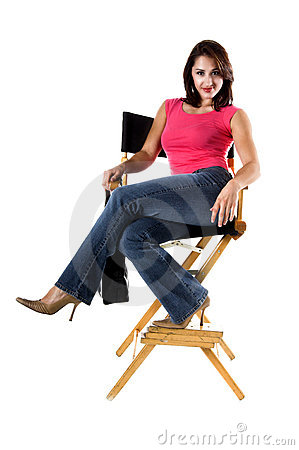 Woman In Directors Chair
