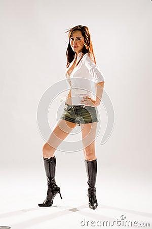 Woman disco dancing