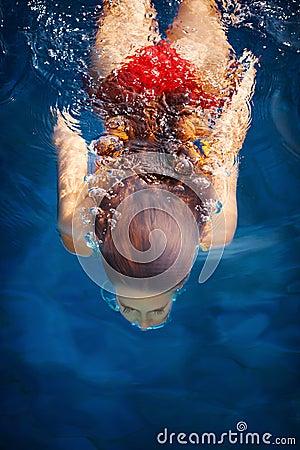 Free Woman Dive Stock Image - 33501941