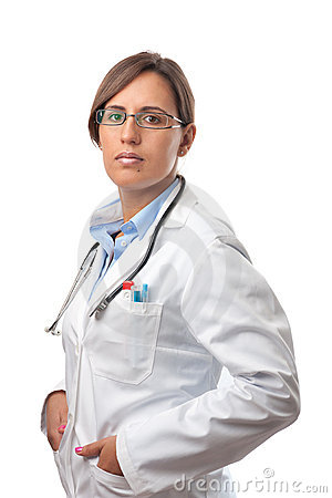 Woman Doctor Looking Very Professional in Lab Coat