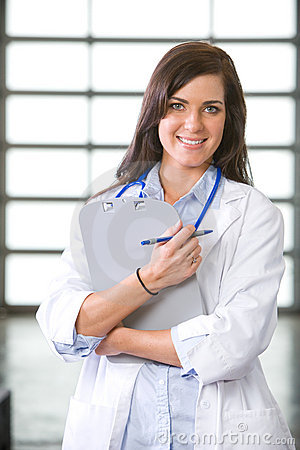 Woman doctor in a modern office