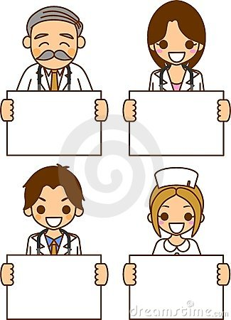 Woman doctor and nurse and physician