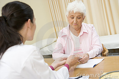 Woman in doctor s office