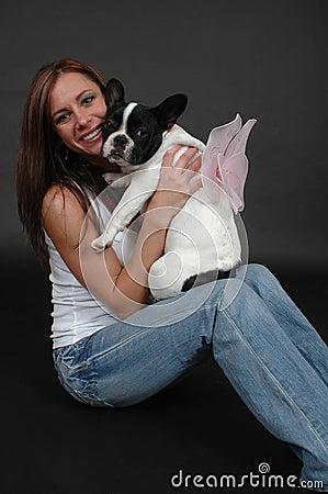 Woman dog wings