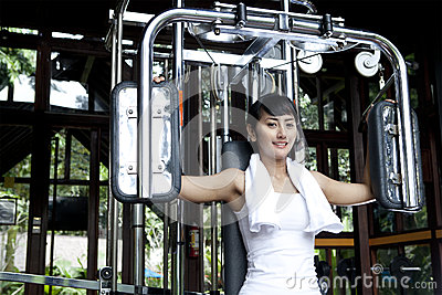 Woman doing fitness training
