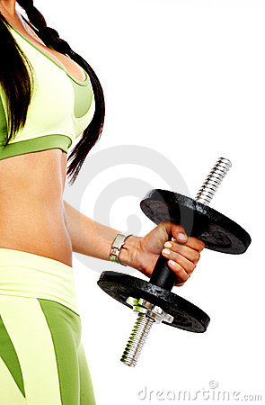 Woman doing freeweights