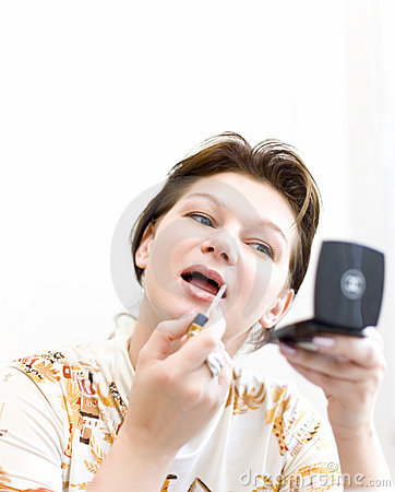 Woman doing a make-up