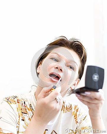 Woman doing a make-up