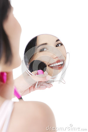 Free Woman Doing Make-up On Face. Royalty Free Stock Photos - 27481028