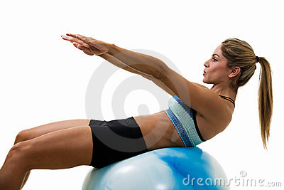 Woman doing sit ups
