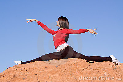 Woman doing split