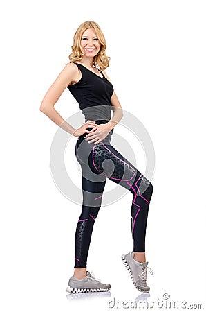 Woman doing sports