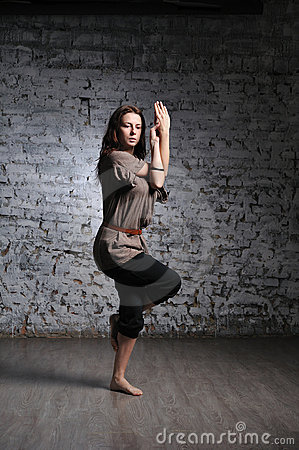 Woman doing yoga excercise