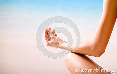 Woman doing yoga moves