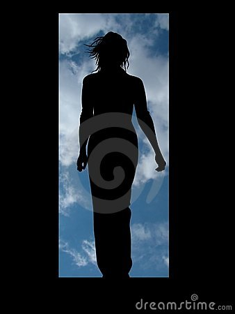 Free Woman Door Stock Photography - 552732