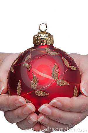 Woman Double Hand Holding a Bauble