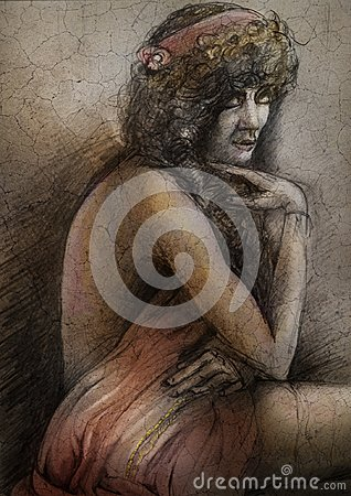Free Woman Draped In Cloth Royalty Free Stock Image - 104365936
