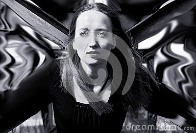 The woman with dream wings