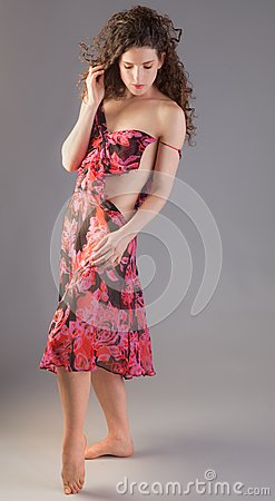 Woman in Dress That s Coming Apart