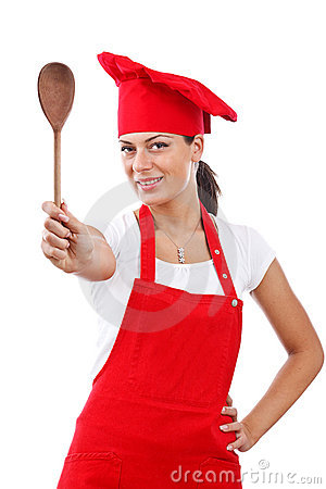 Woman dressed as a cook