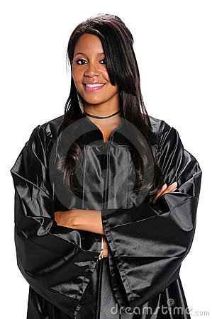 Woman Dressed in Graduation Gown