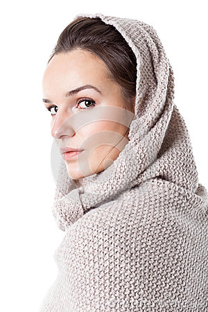 Free Woman Dressed In Hooded Sweater Royalty Free Stock Image - 39955046