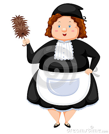 Woman Dressed Maid
