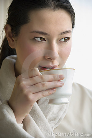 Free Woman Drinking Coffee. Stock Image - 2425831