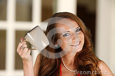 Woman Drinking Coffeee