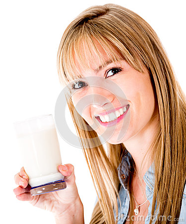 Woman drinking milk
