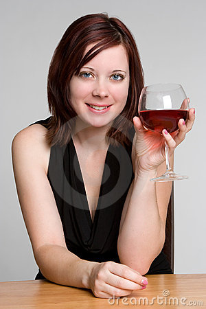 Free Woman Drinking Wine Royalty Free Stock Photography - 7026367